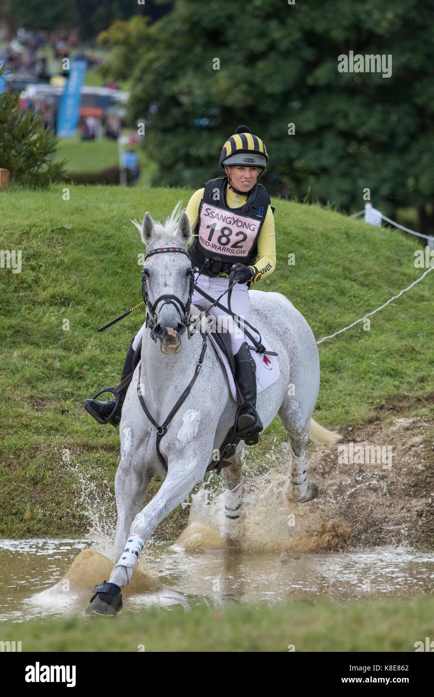 Franky Reid-Warrilow on With Love, SsangYong Blenheim Palace International Horse Trials 16th September 2017 - Stock Image