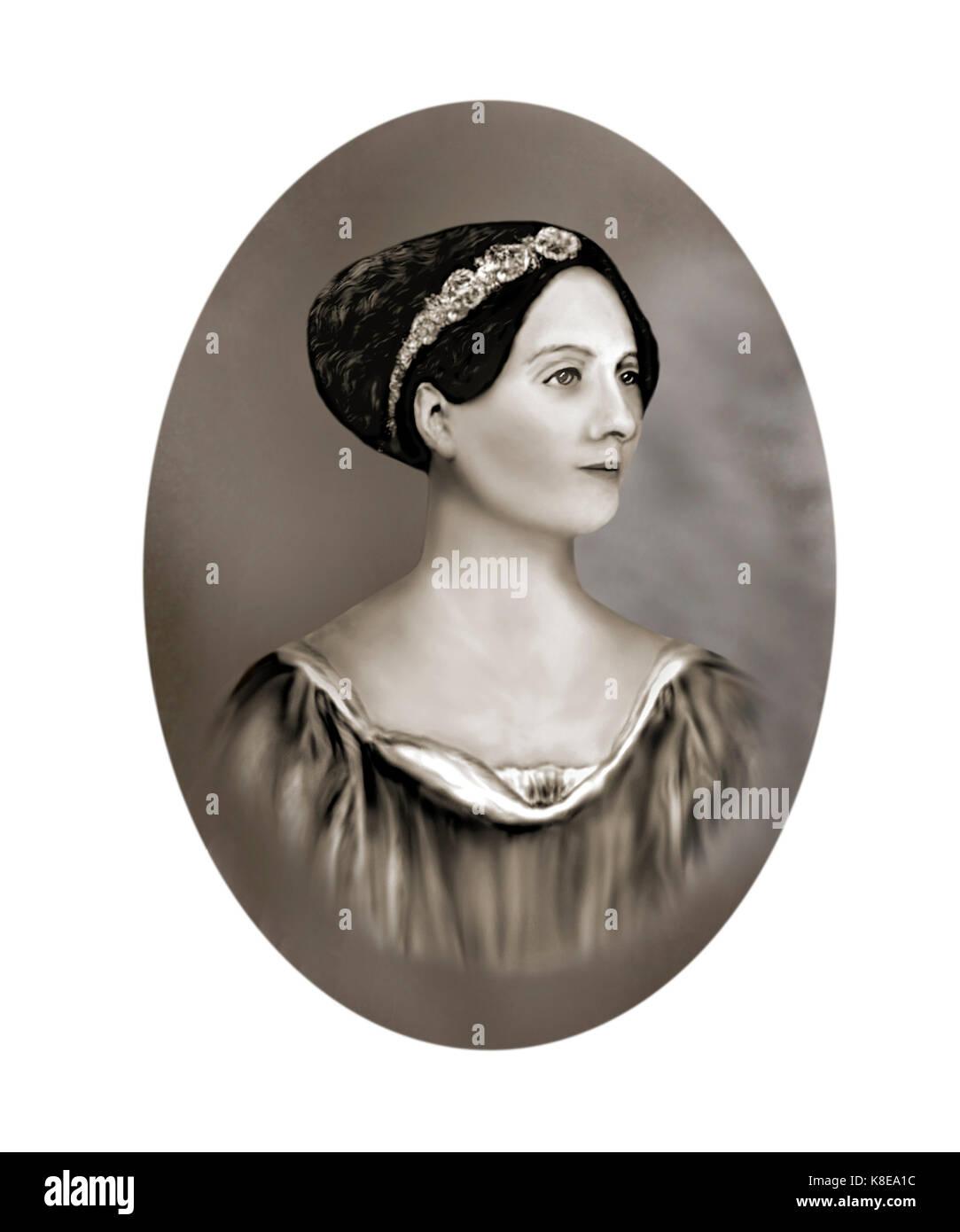 Ada Lovelace, 1815 - 1852, English Mathematician, Writer - Stock Image