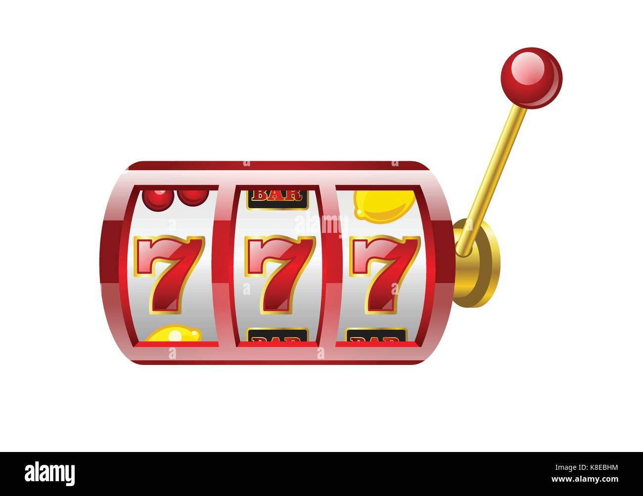 Red 777 Slot Modern Vector Isolated Illustration On White Stock