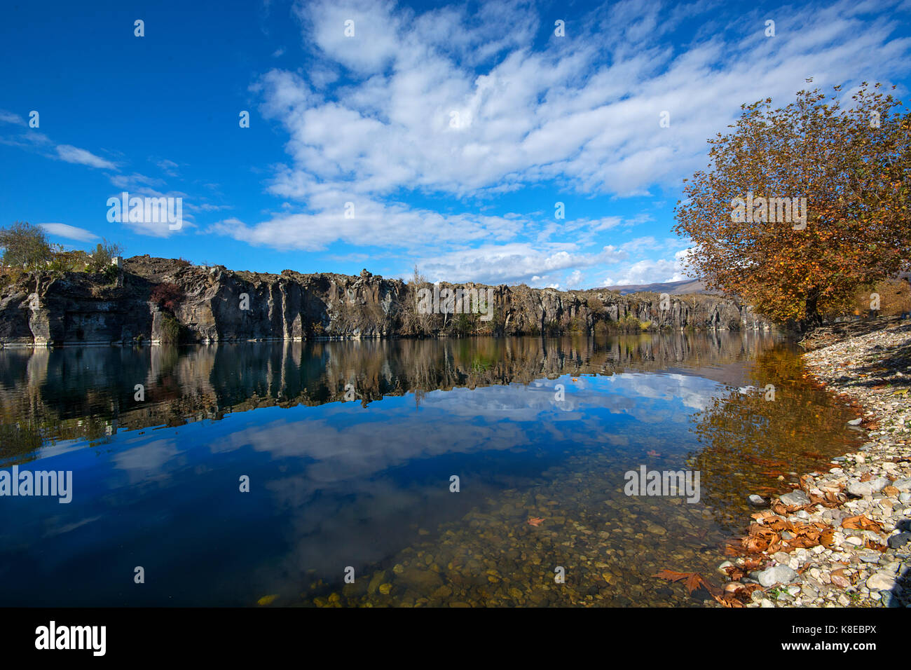 reflections in the Adala canyon - Stock Image