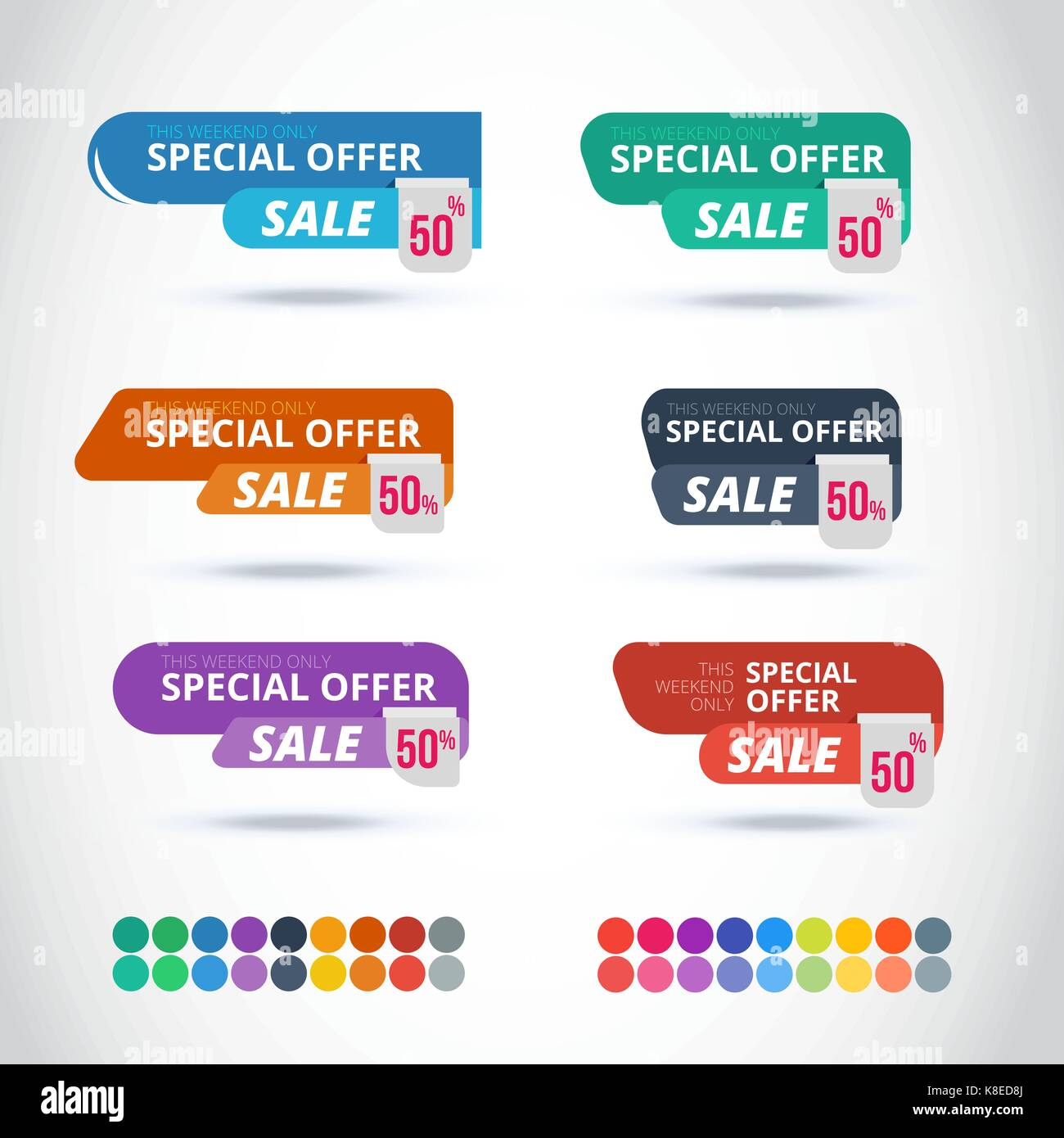 Style Sticker and Banner Template  Isolated on gray background