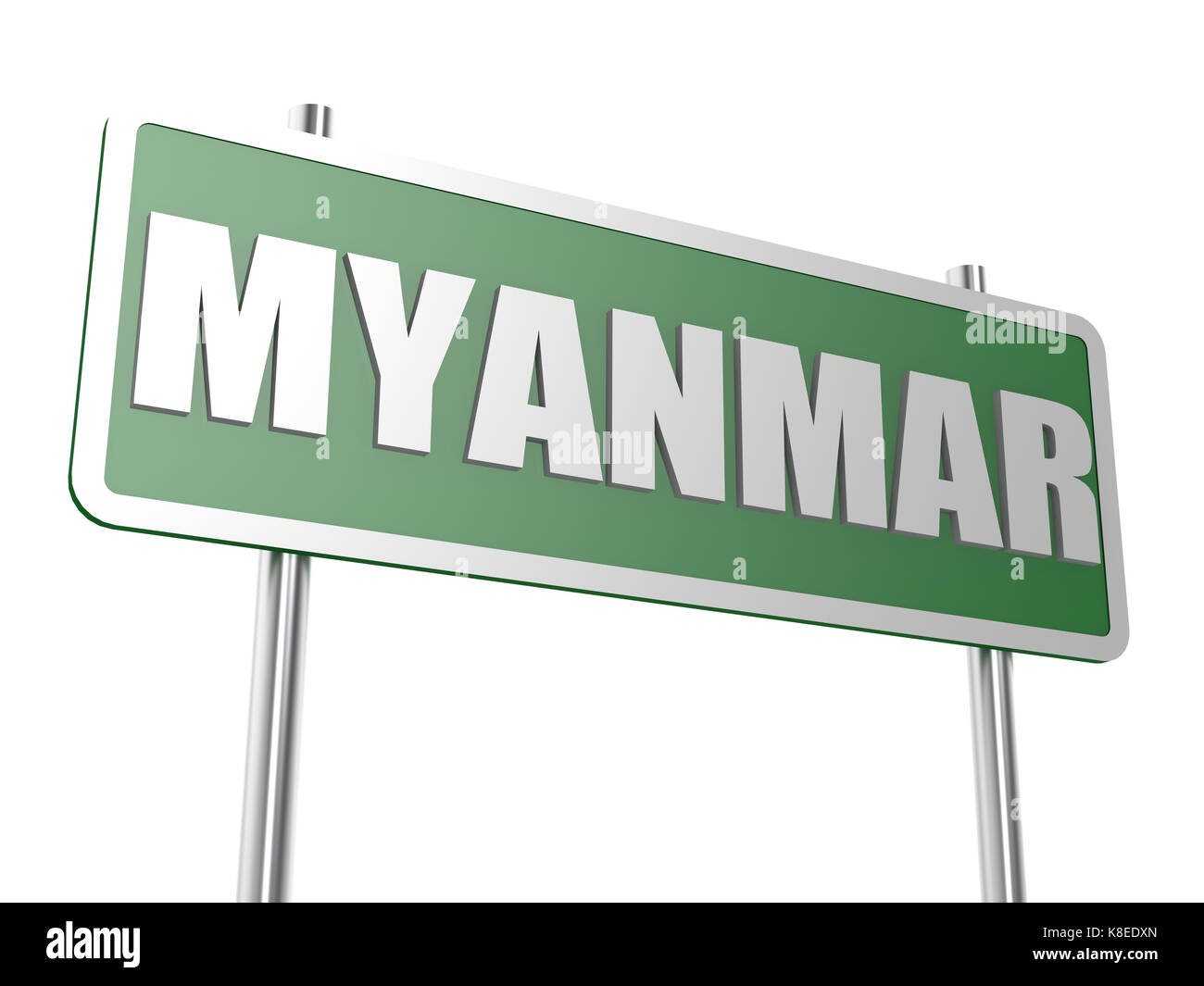 Myanmar concept image with hi-res rendered artwork that could be used for any graphic design. - Stock Image