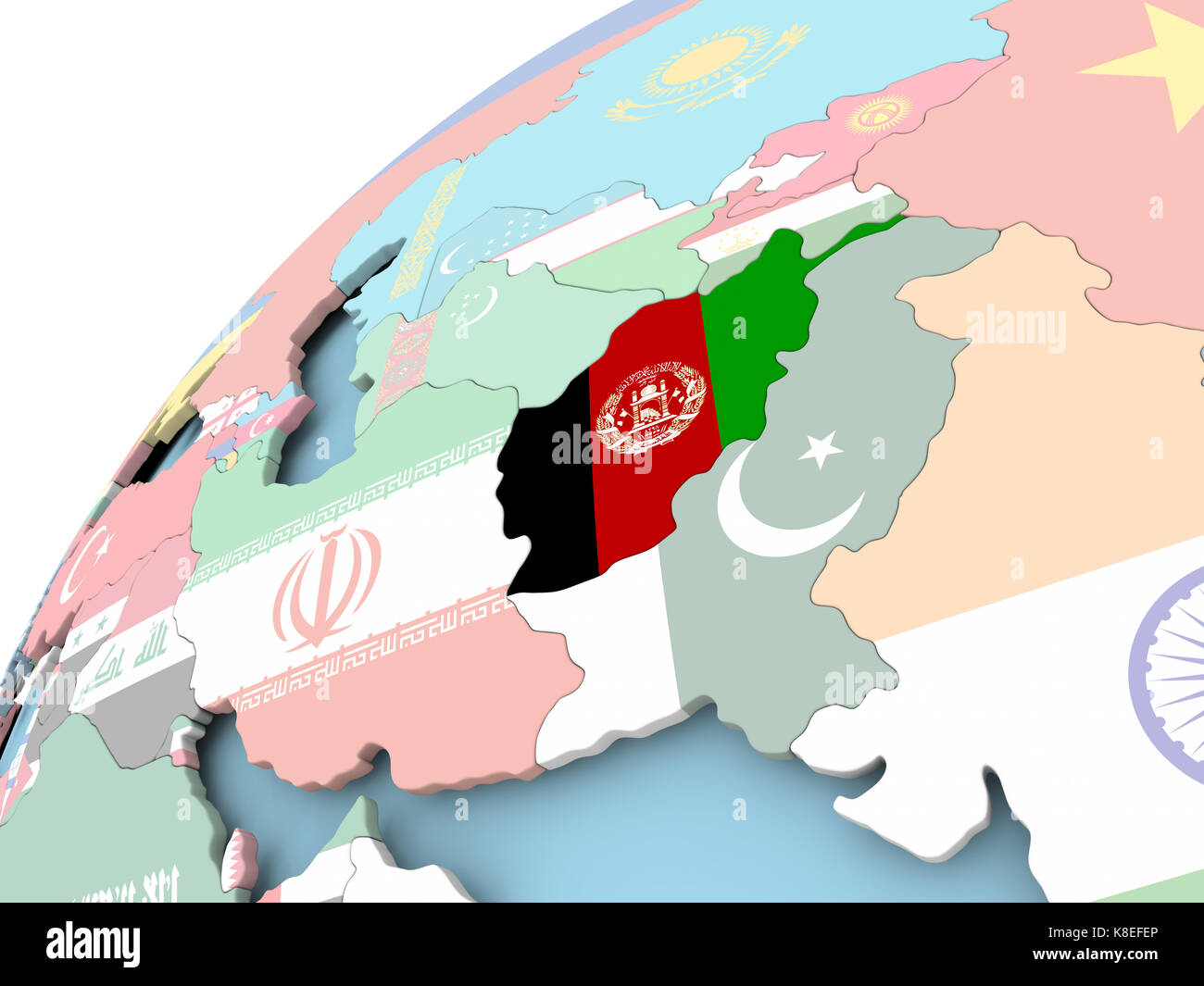 Map of Afghanistan on political globe with embedded flag. 3D ... Afghanistan On Map on israel on map, yemen on map, iran on map, lebanon map, sudan on map, egypt on map, himalayas on map, congo on map, malaysia on map, north korea on map, mongolia on map, bangladesh on map, bhutan on map, indonesia on map, pakistan on map, thailand on map, nepal on map, armenia on map, the arabian sea on map, kuwait on map,