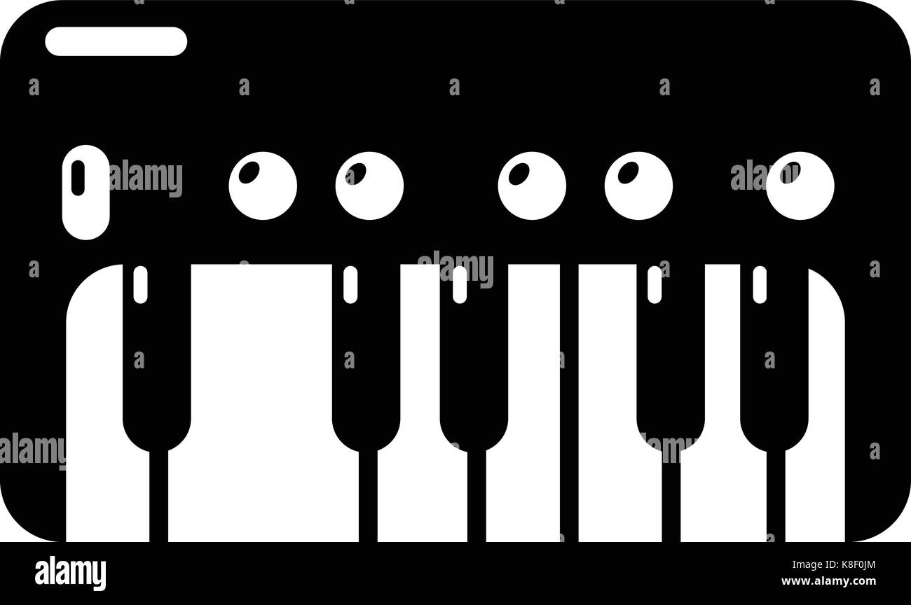 Synthesizer piano icon , simple style - Stock Image