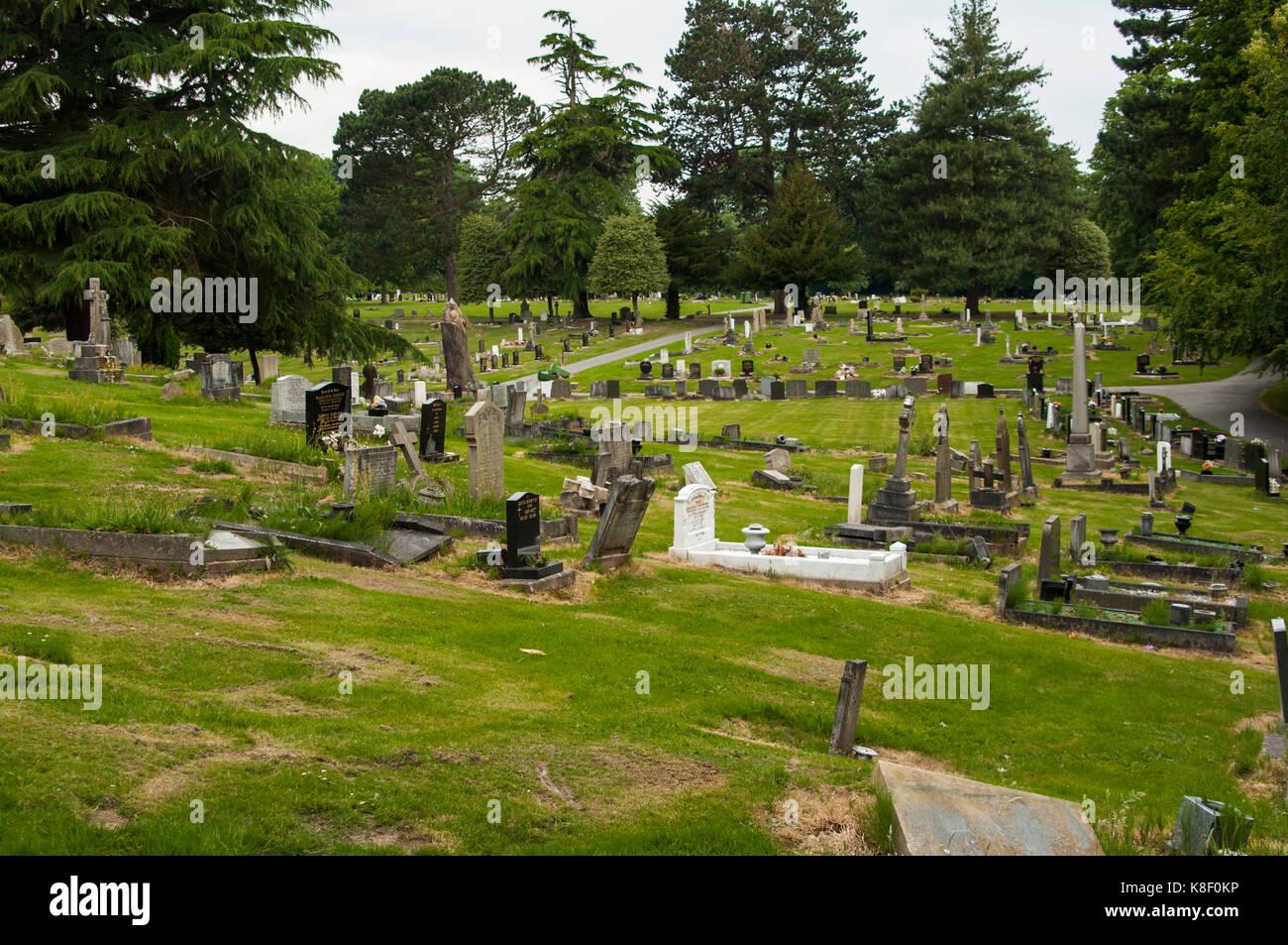 Macclesfield Cemetery, Cheshire, UK, England - Stock Image