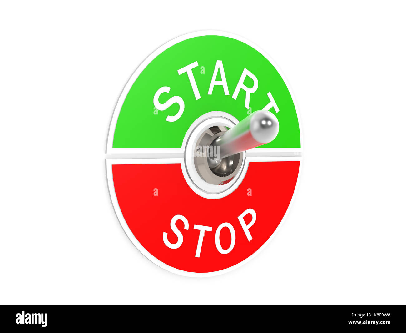 Start stop toggle switch - Stock Image