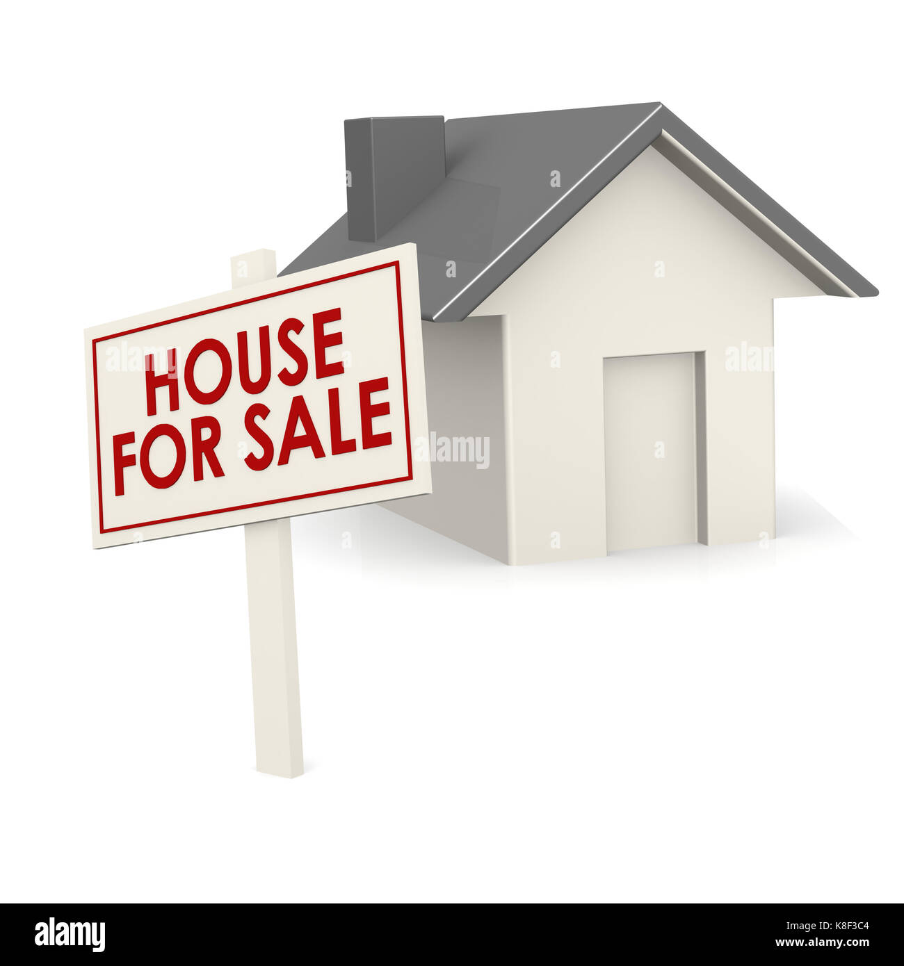 House for sale banner with house - Stock Image