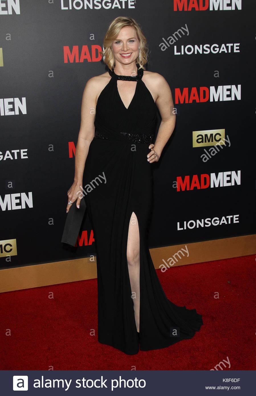 Stephanie Drake Mad Men Black Red Gala Los Angeles Stock Photo