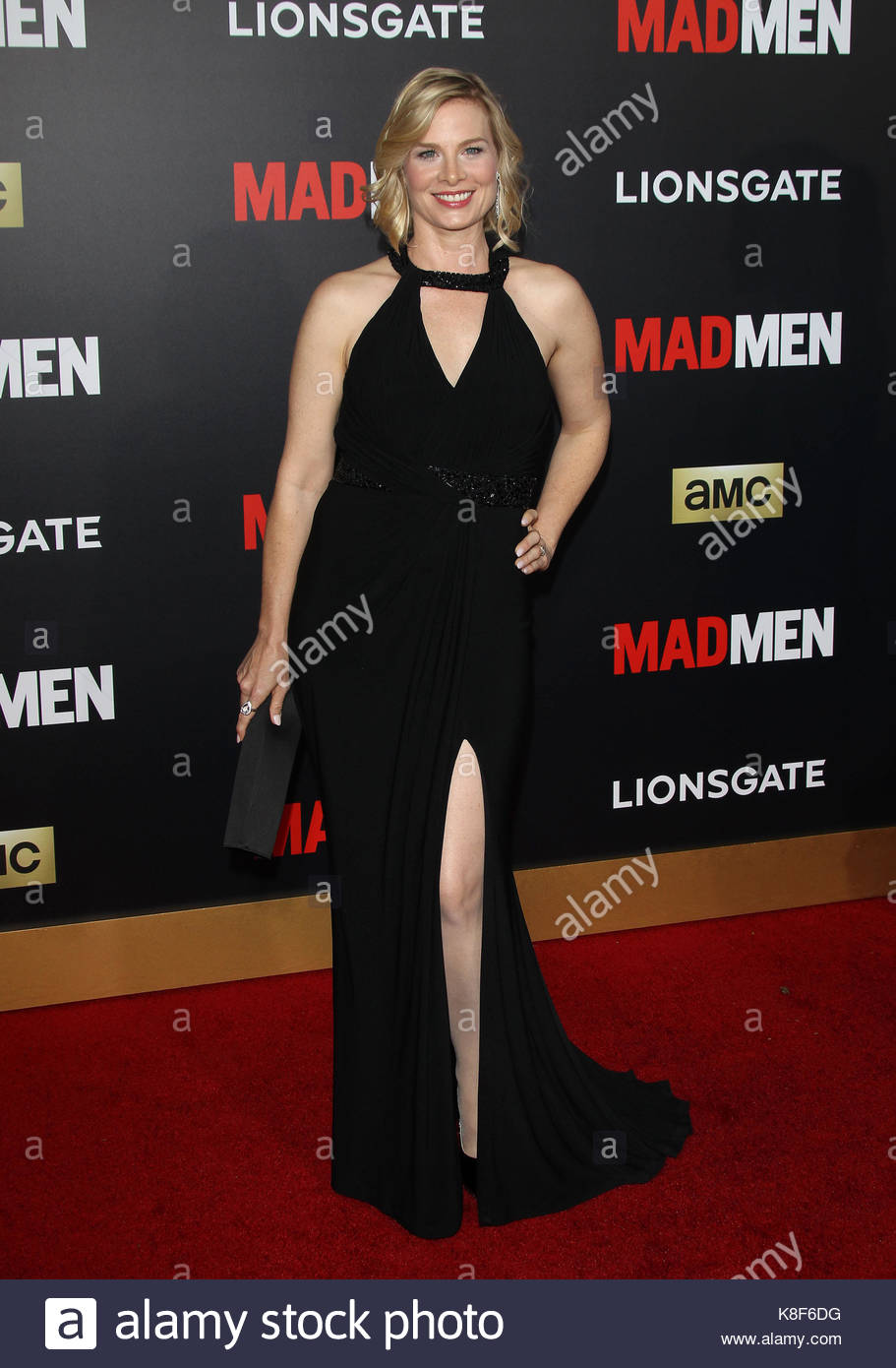 Stephanie Drake Mad Men Black Red Gala Los Angeles Stock Photo