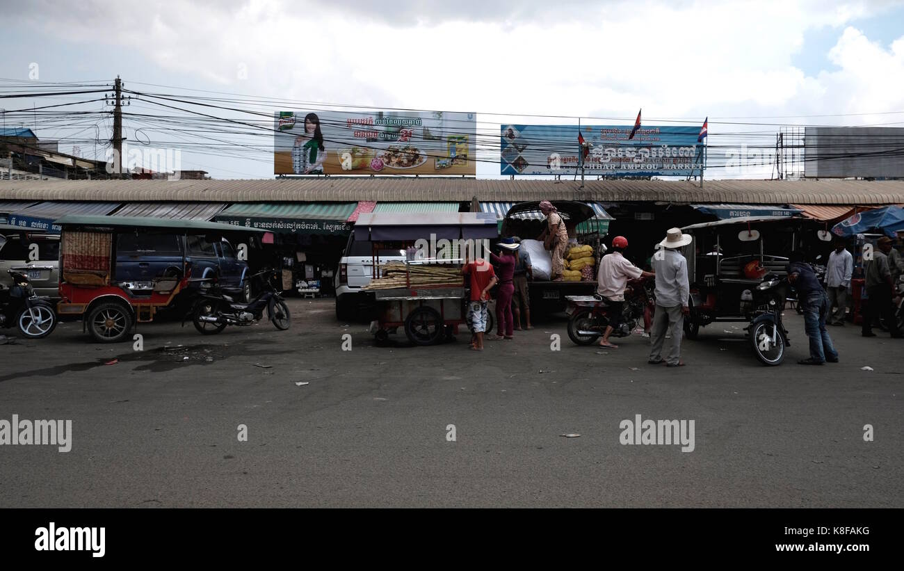 Chhba Ampeou Market Phnom Penh CambodiaThird World Developing Country - Stock Image