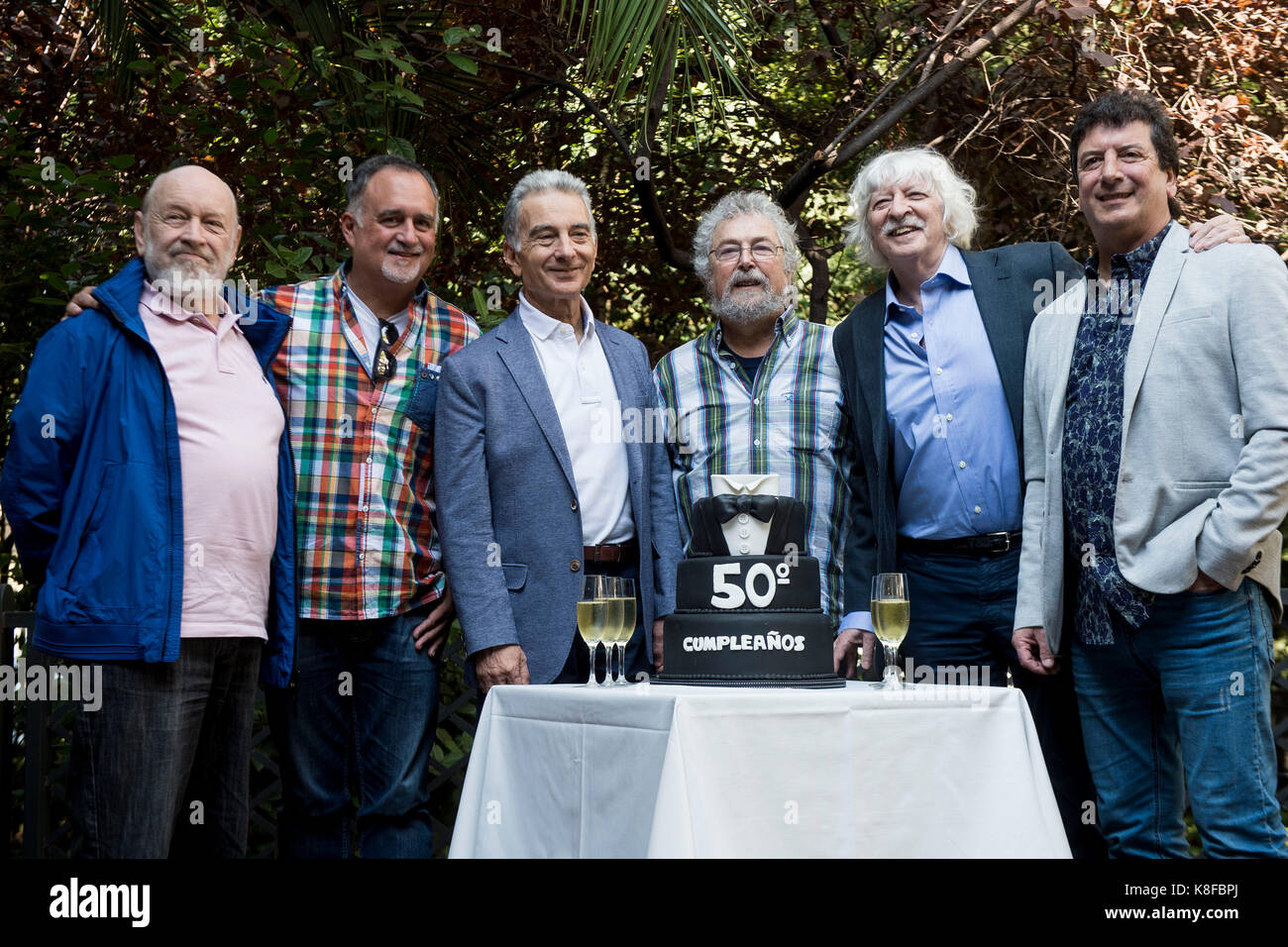 Madrid, Spain. 19th Sep, 2017. Les Luthiers during the press conference celebrating its 50th anniversary in Madrid, Stock Photo