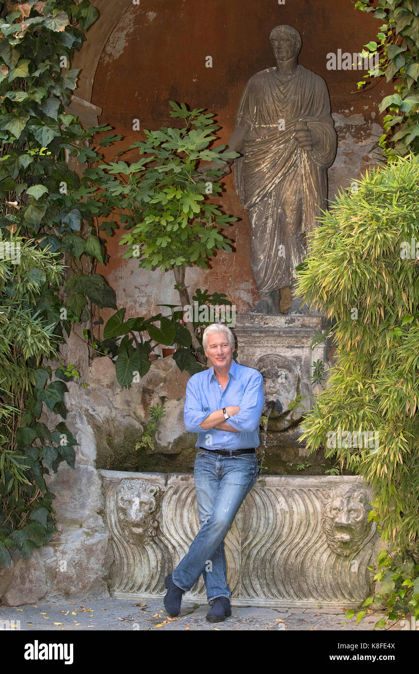 Richard Gere attends the 'Norman' photocall at Quattro Fontane Hotel on September 12, 2017 in Rome, Italy. Stock Photo