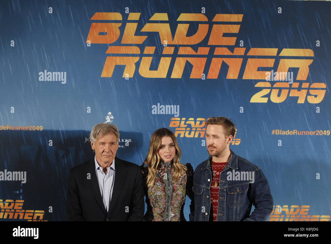 Madrid, Madrid, Spain. 19th Sep, 2017. Harrison Ford, Ana de Armas and Ryan Gosling attend 'Blade Runner 2049' photocall at Villa Magna Hotel on September 19, 2017 in Madrid, Spain. Credit: Jack Abuin/ZUMA Wire/Alamy Live News Stock Photo