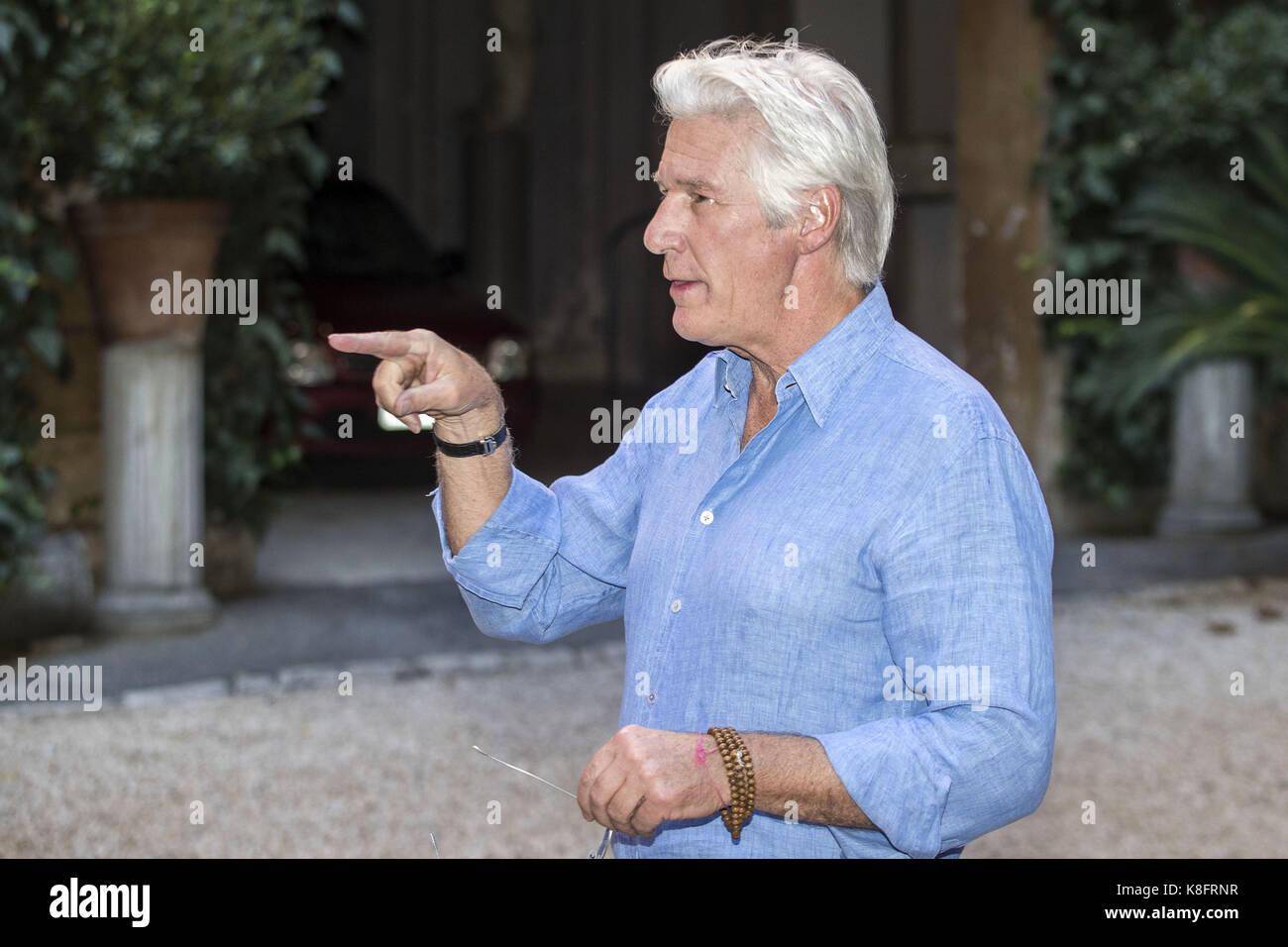 Rome, Italy. 12th Sep, 2017. Richard Gere attends the 'Norman' photocall at Quattro Fontane Hotel on September 12, Stock Photo