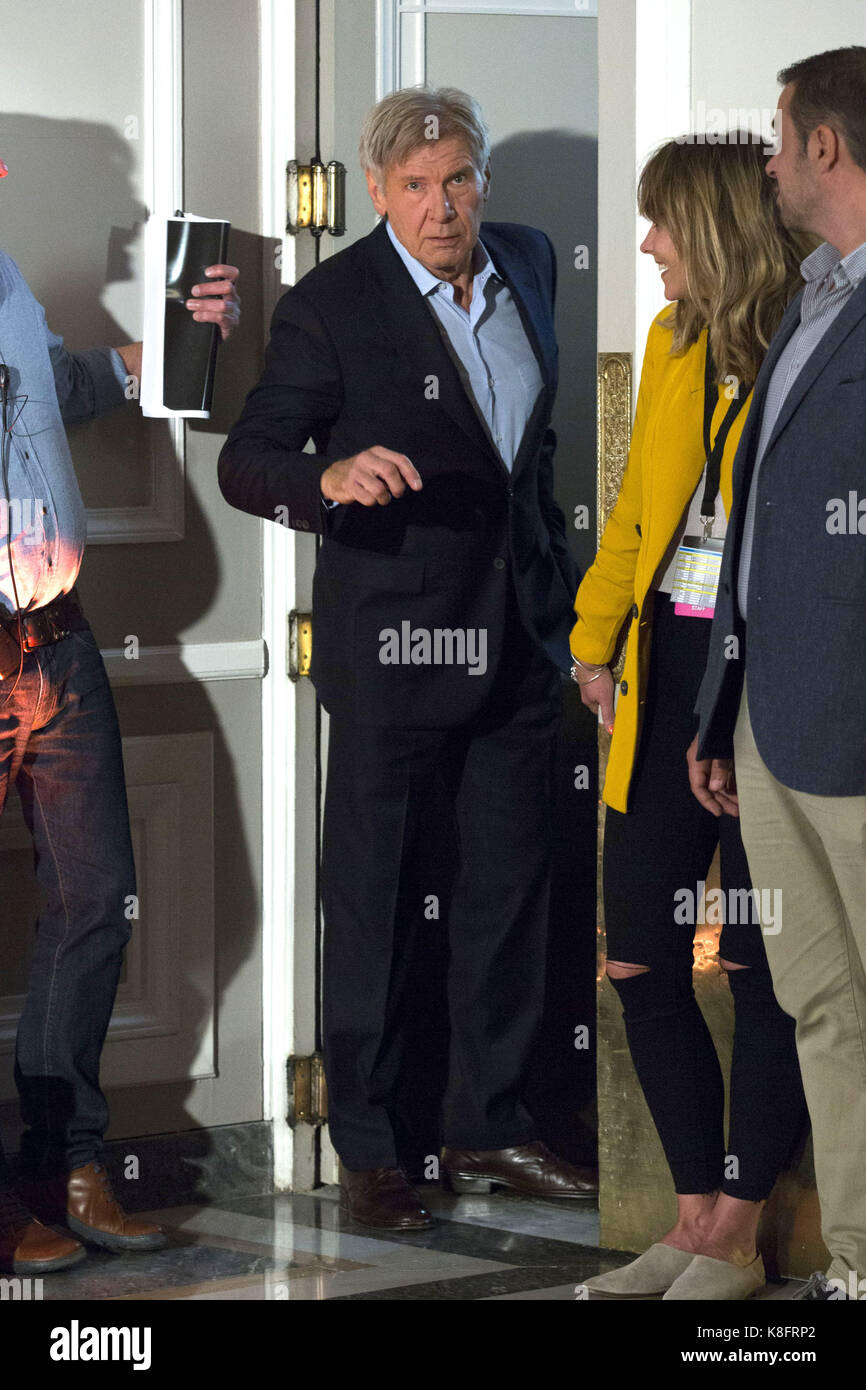 Madrid, Spanien. 19th Sep, 2017. Harrison Ford at the Photocall for 'Blade Runner 2049' at Hotel Villamagna. - Stock Image