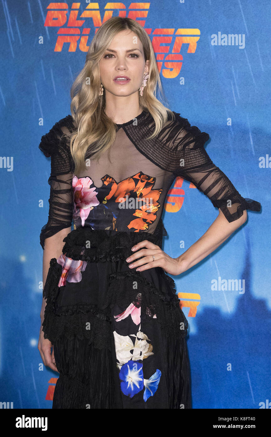 Rome, Italy. 19th Sep, 2017. Sylvia Hoeks attends the 'Blade Runner 2049' photocall at The Space Moderno - Stock Image