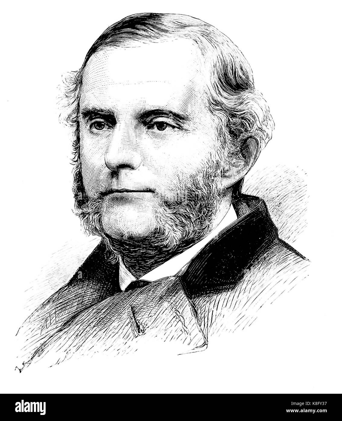 JOSIAH PARSONS COOKE (1827-1894) American scientist who worked on atomic weights - Stock Image