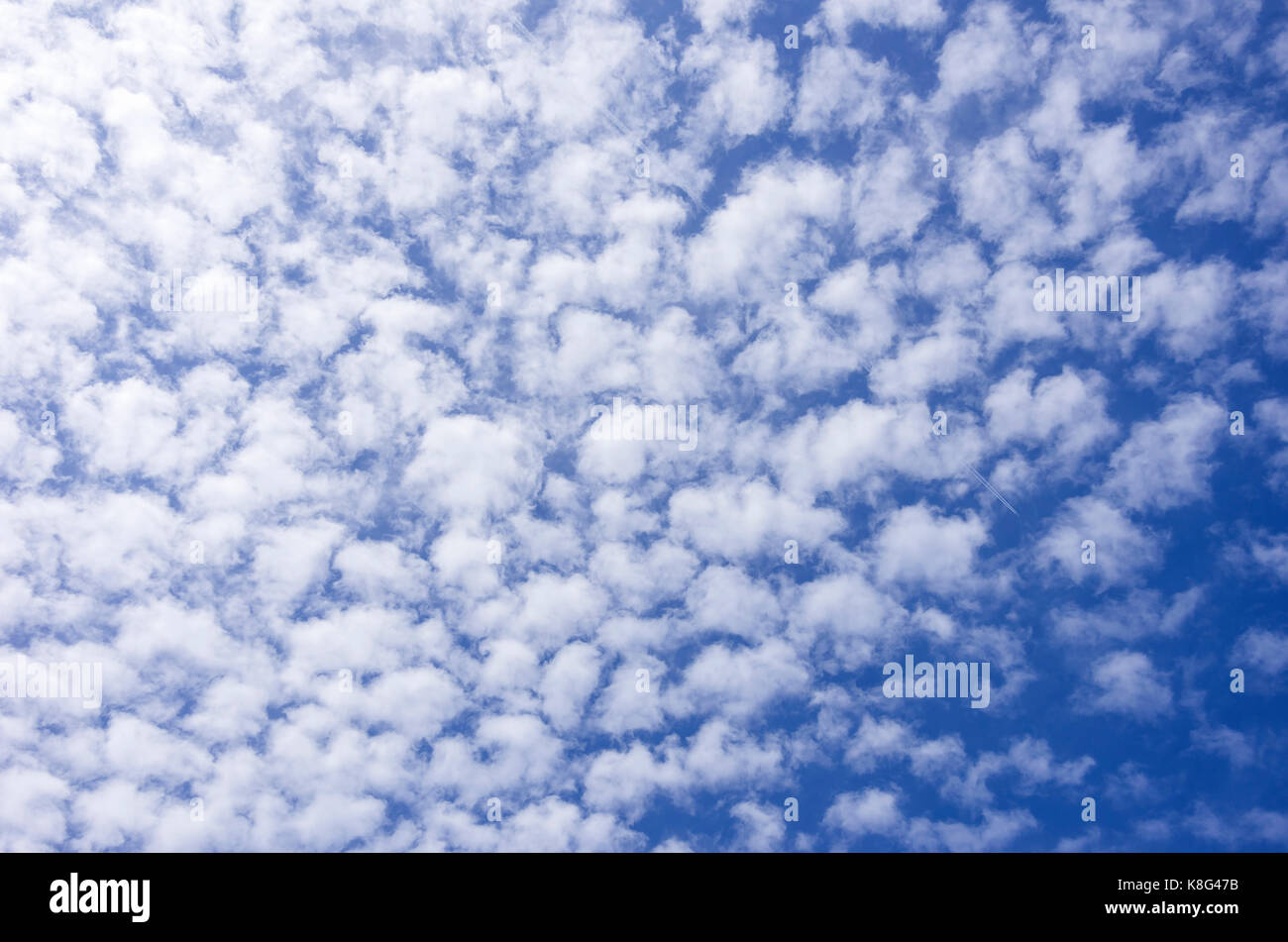 Mackerel sky cloud formation. - Stock Image