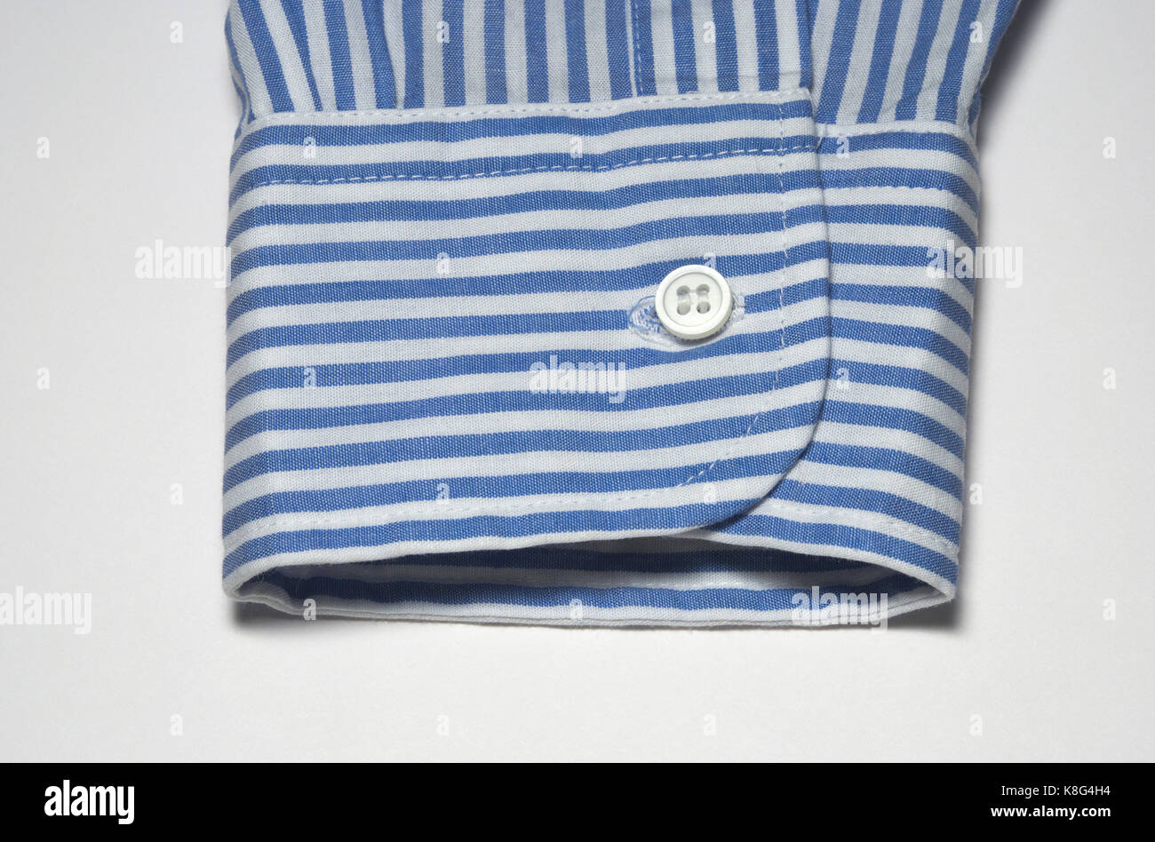 Striped Shirt Cuff Of Sleeve - Stock Image