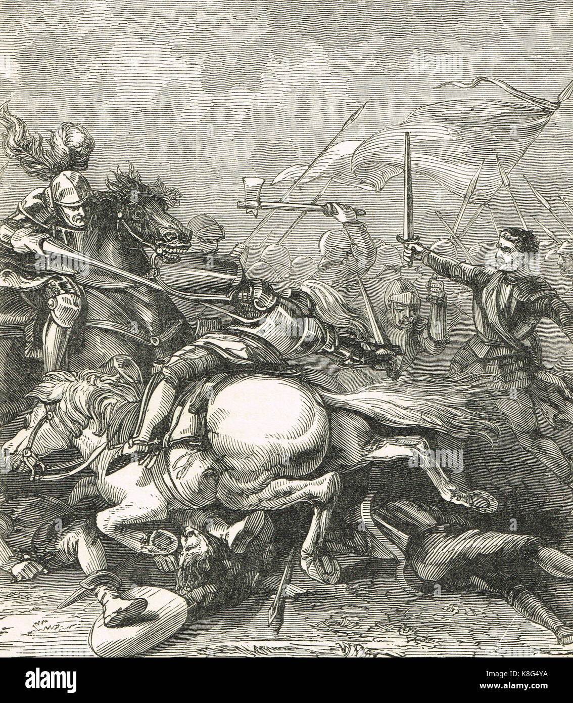 The Battle of Flodden, 9 September 1513 - Stock Image
