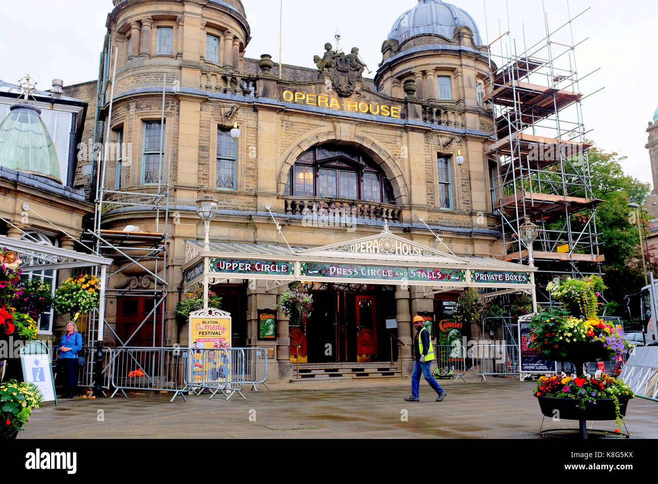 Buxton, Derbyshire, UK. August 23, 2017. The Opera house was designed by Frank Matcham in 1909 and is the highest - Stock Image