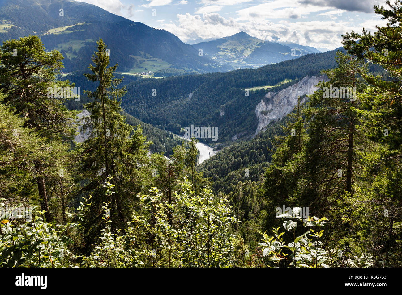 Rhine Gorge near Flims, Switzerland - Stock Image