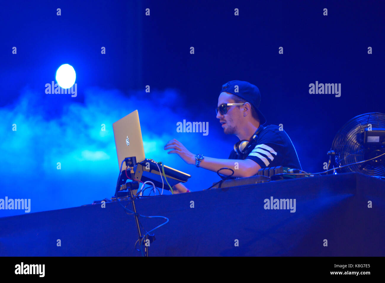 Robin Schulz, German DJ and producer, on the Waddington Peninsula in Rouen on the occasion of the free concerts - Stock Image