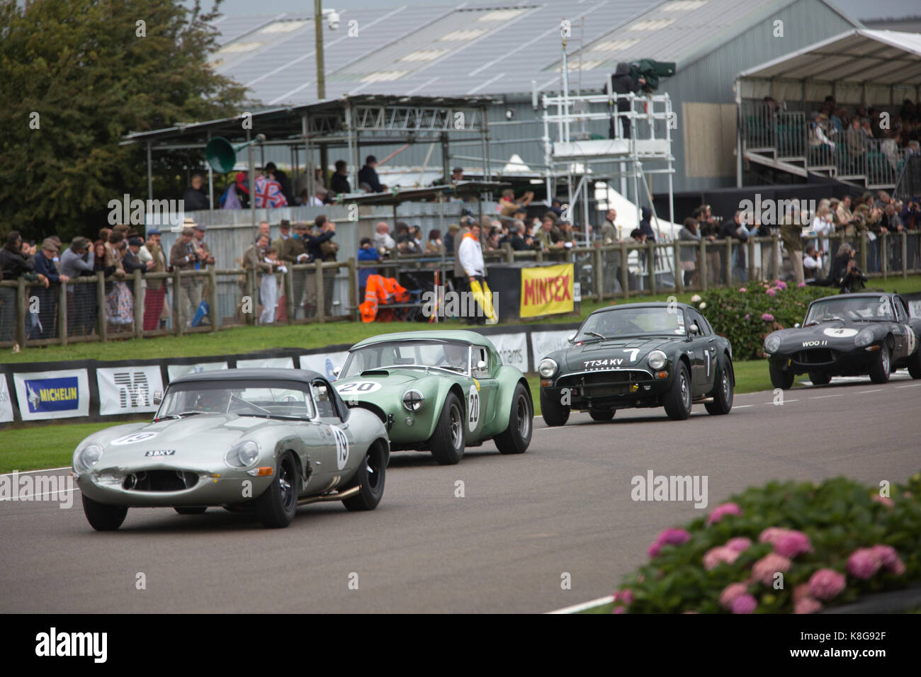 RAC TT Celebration, Goodwood Revival 2017 Meeting, Goodwood race track, organised by the British Automobile Racing - Stock Image