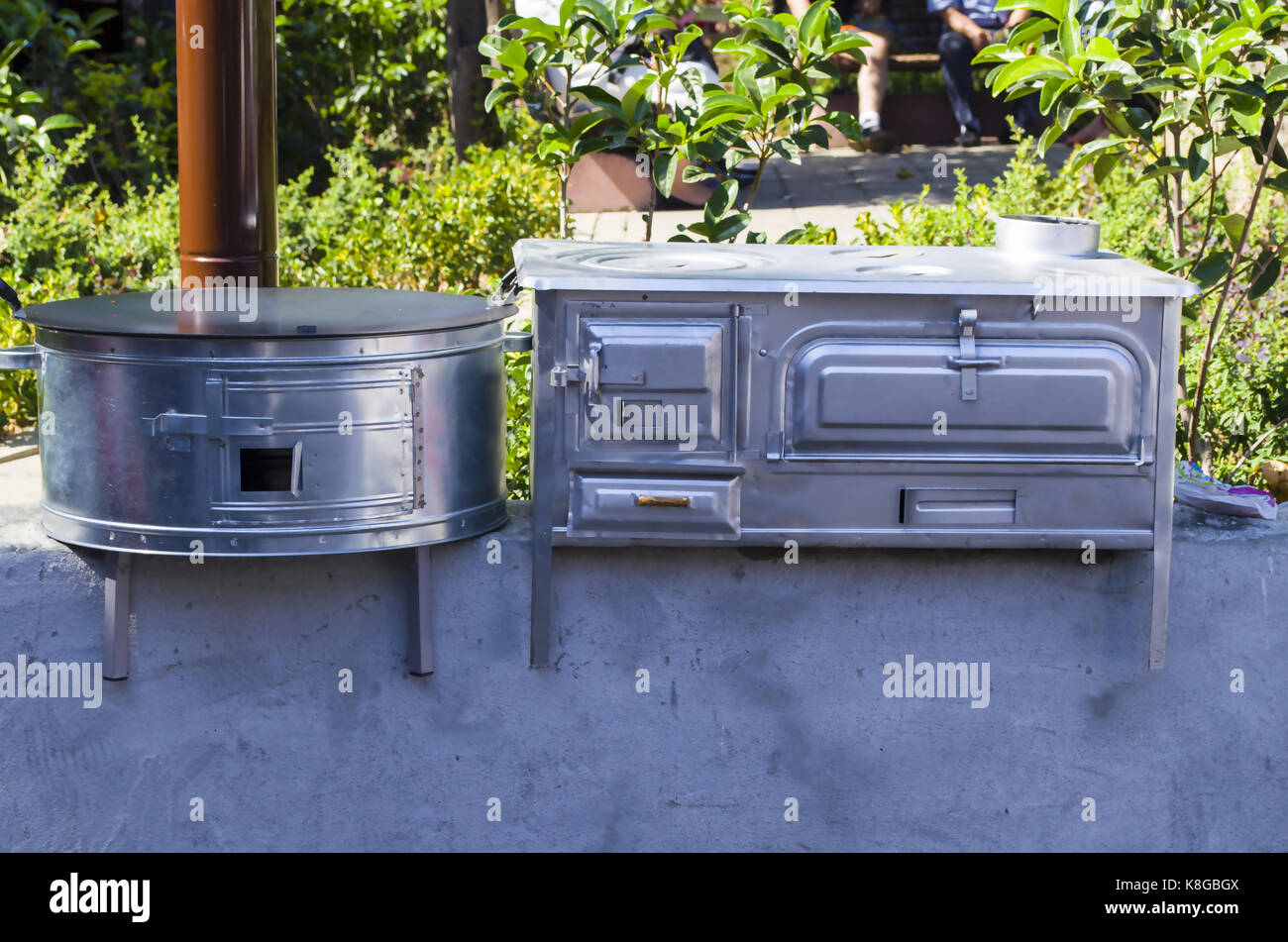 old retro oven - Stock Image