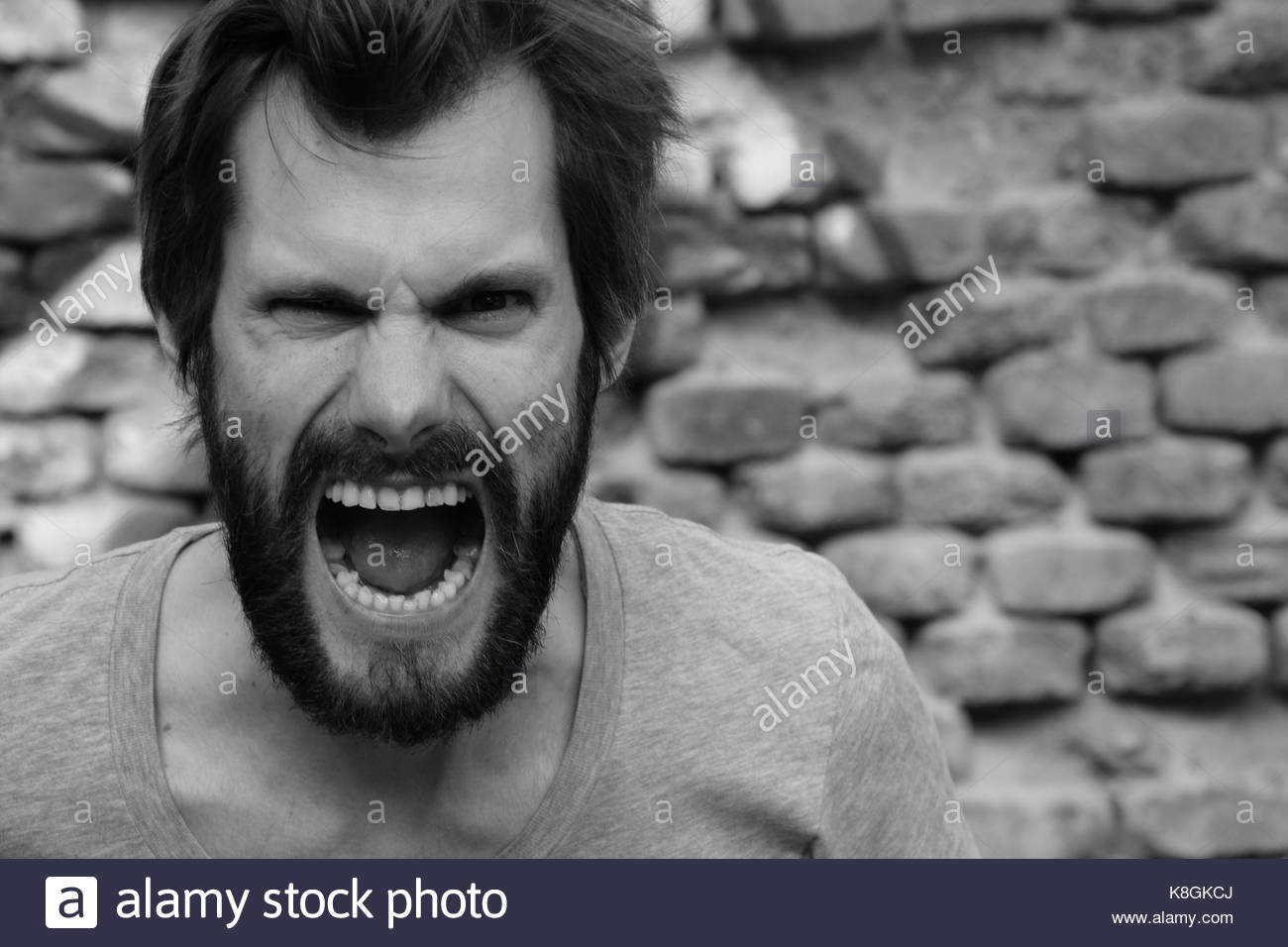 Rage and Anger - Stock Image