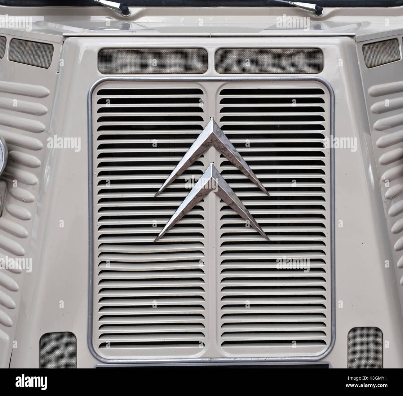 Front of a Citroen van radiator grill - Stock Image
