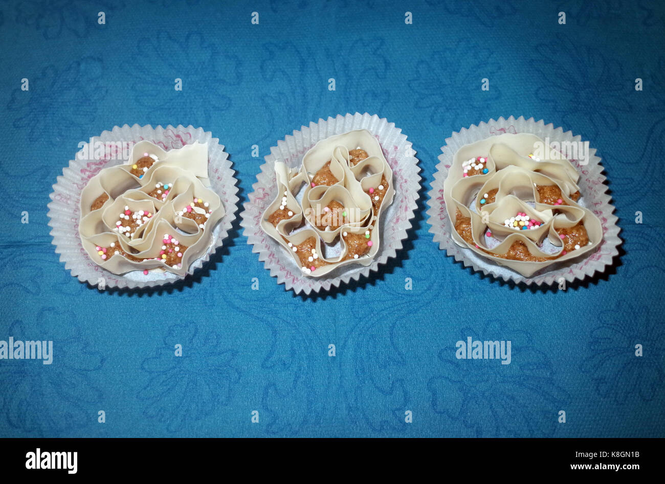 Caschettes: Sardinian typical dessert - Stock Image