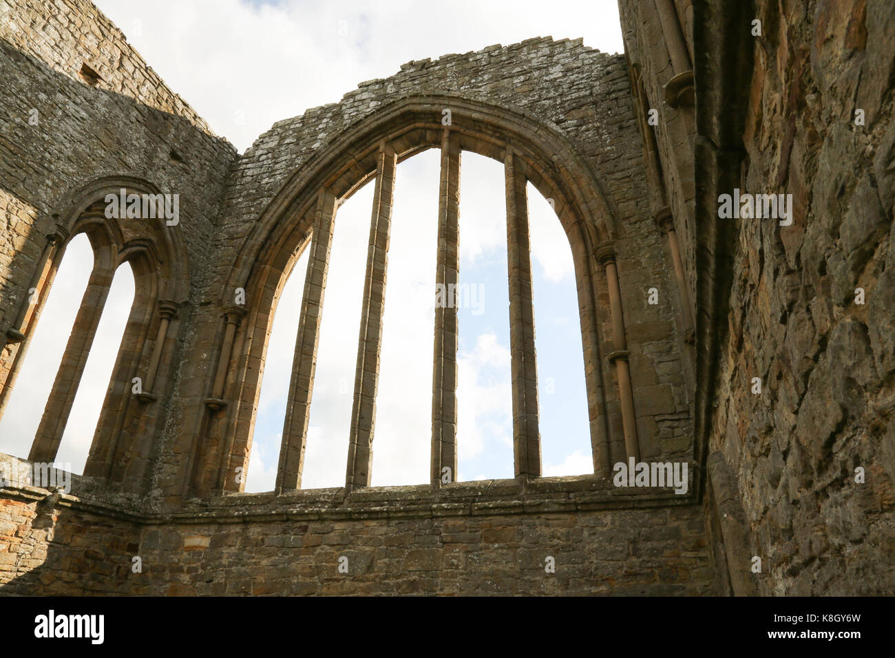 Egglestone Abbey is an abandoned Premonstratensian Abbey on the southern bank of the River Tees, County Durham, - Stock Image
