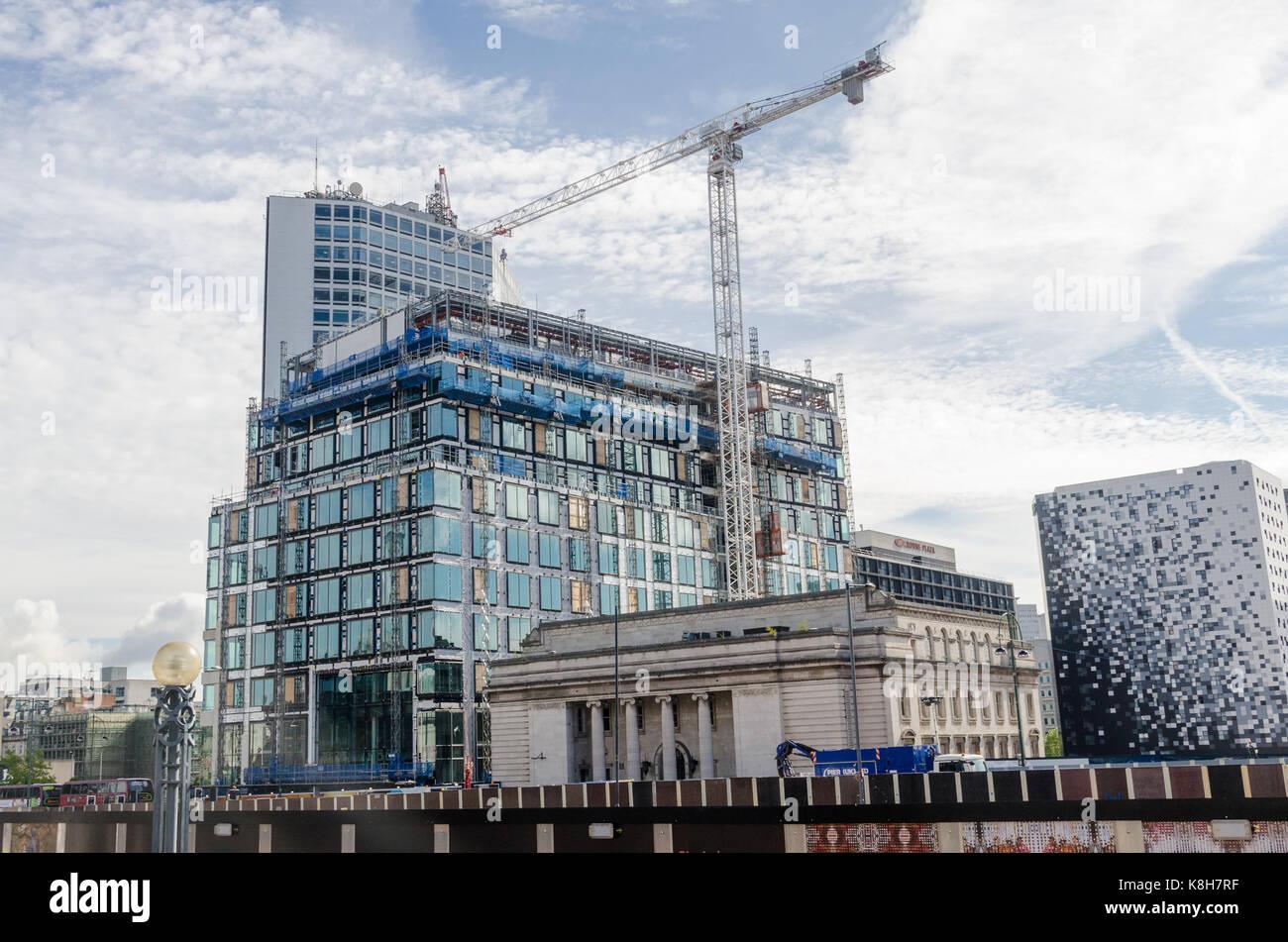The new Birmingham headquarters of HSBC Bank under