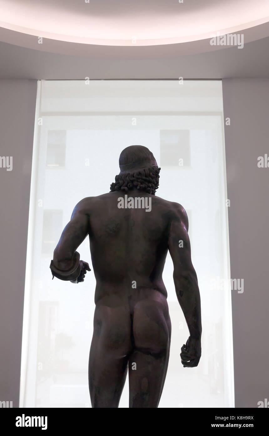 Riace's bronzes. Greek bronze. Museo Archeologico Nazionale, Reggio Calabria, Italy - Stock Image