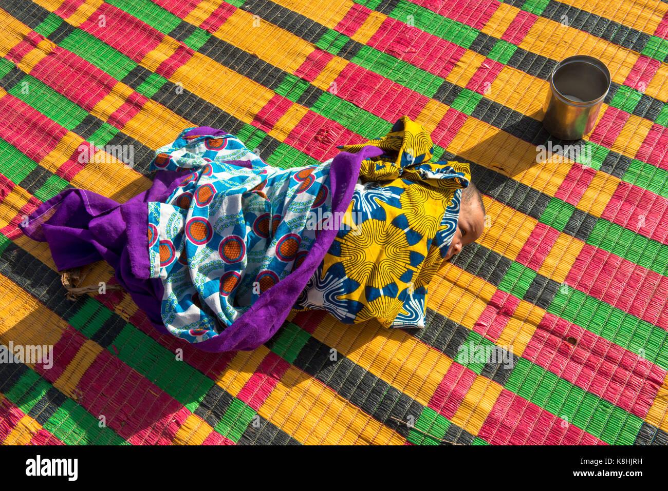 Newborn baby. senegal. - Stock Image