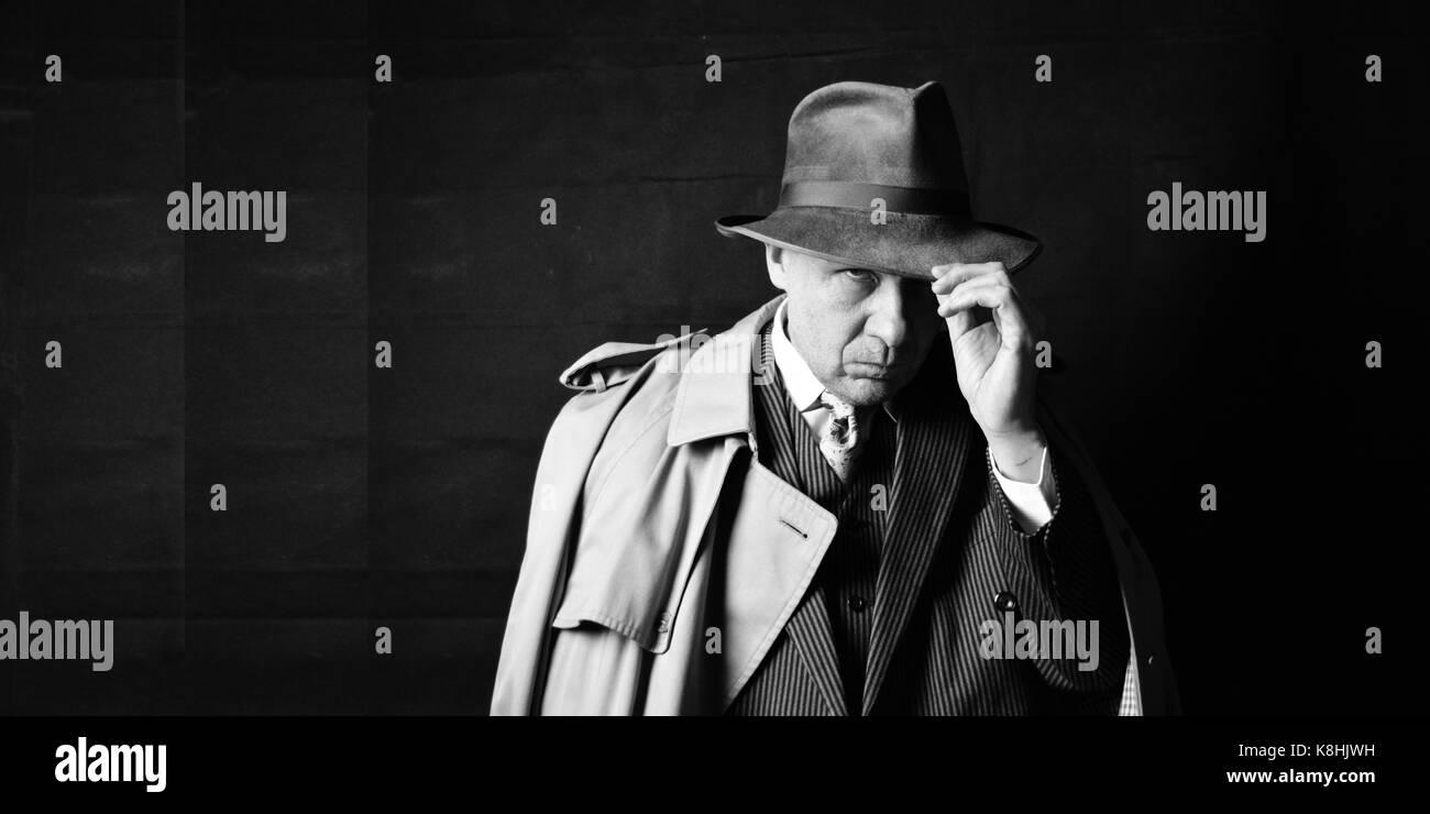 Vintage detective - Stock Image