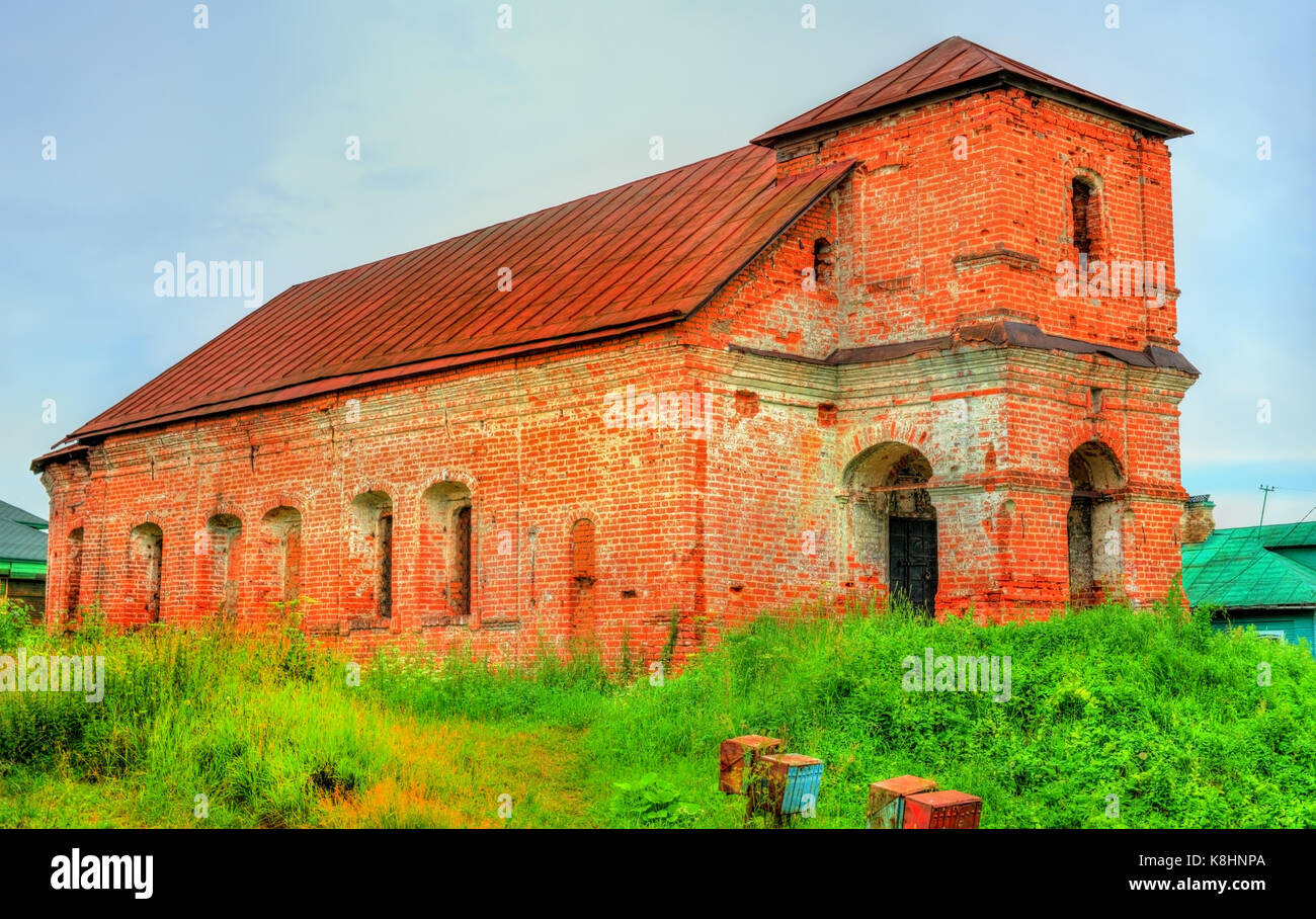 Abandoned Church of Boris and Gleb in Rostov Veliky, Yaroslavl region of Russia - Stock Image