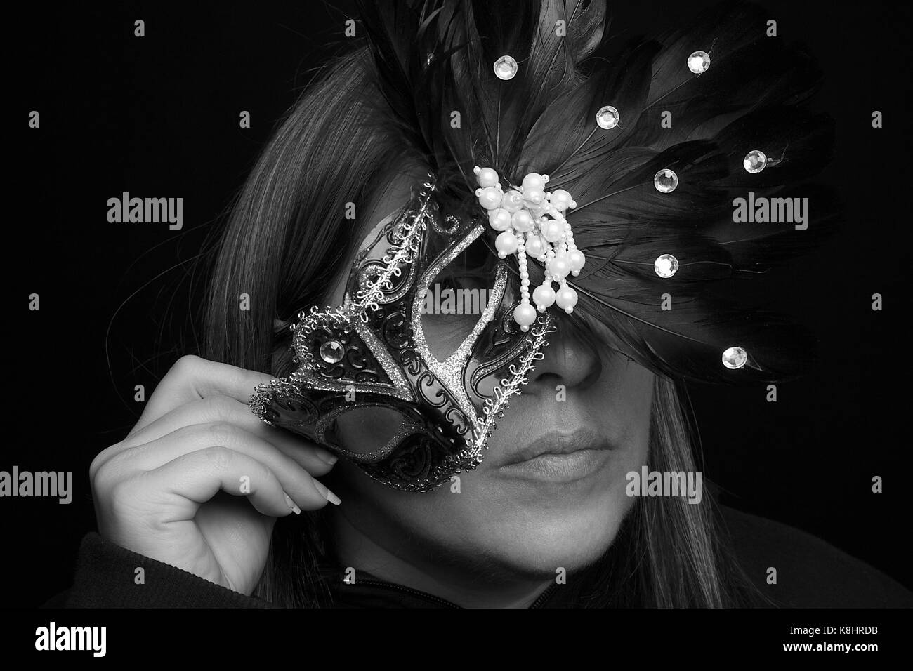 Masquerade Self - Portrait - Stock Image