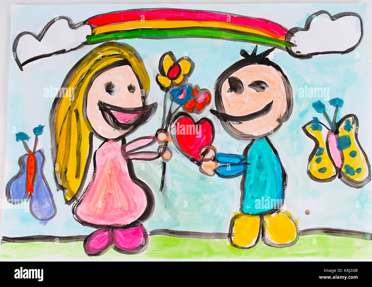 Kids Art Childrens Day Drawing And Painting