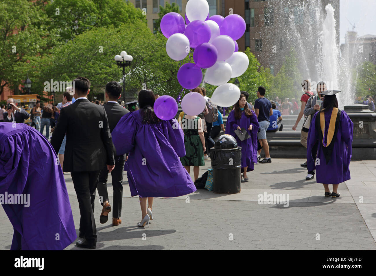 New York, NY, USA - May 16, 2017: New York University students, in ...