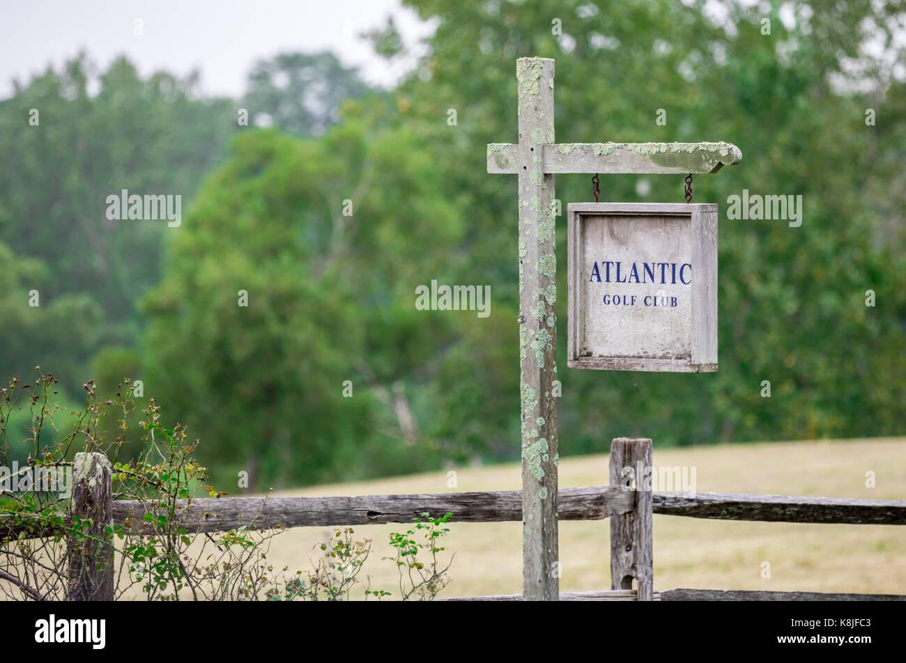 entrance to the private atlantic golf club in bridgehampton, ny - Stock Image