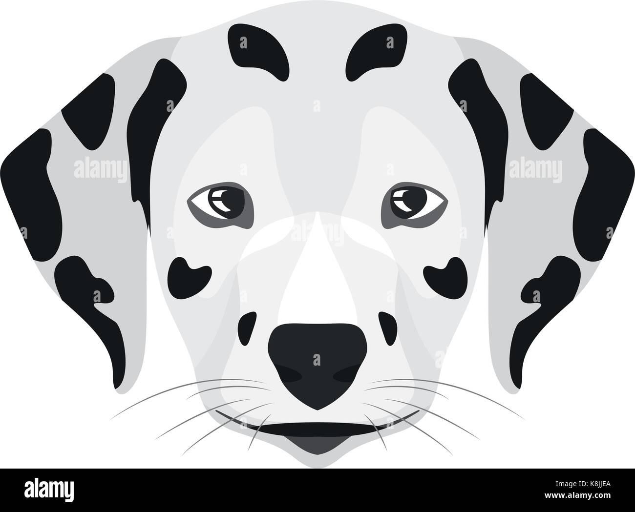 Illustration Dog Dalmatian for the creative use in graphic design - Stock Vector