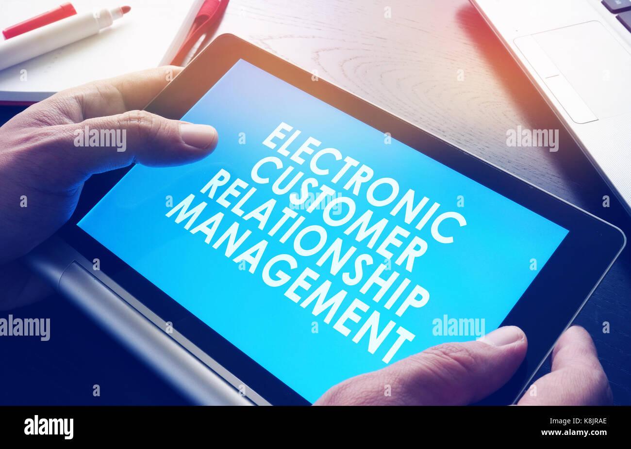 ECRM electronic customer relationship management. - Stock Image