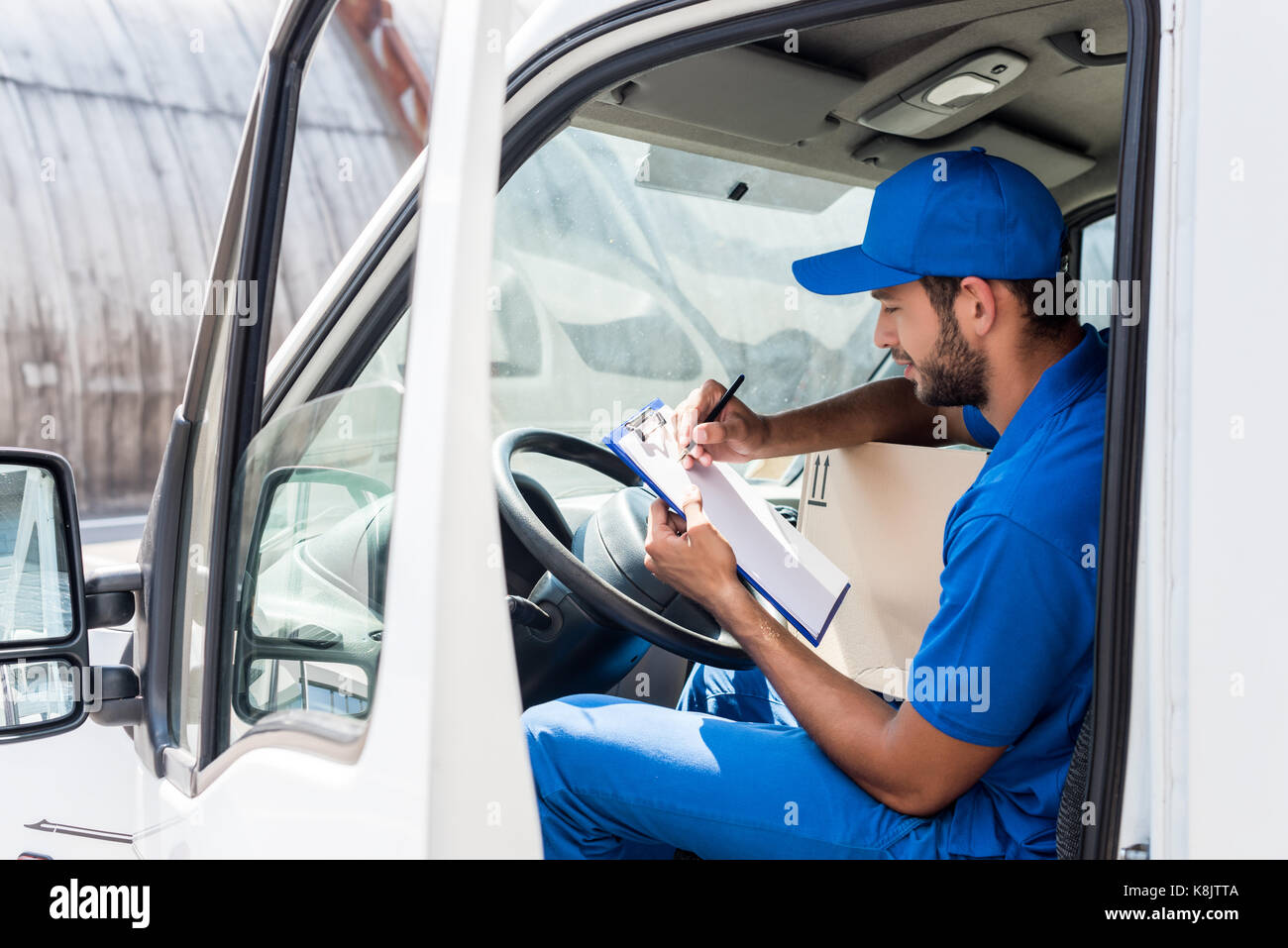 delivery man - Stock Image