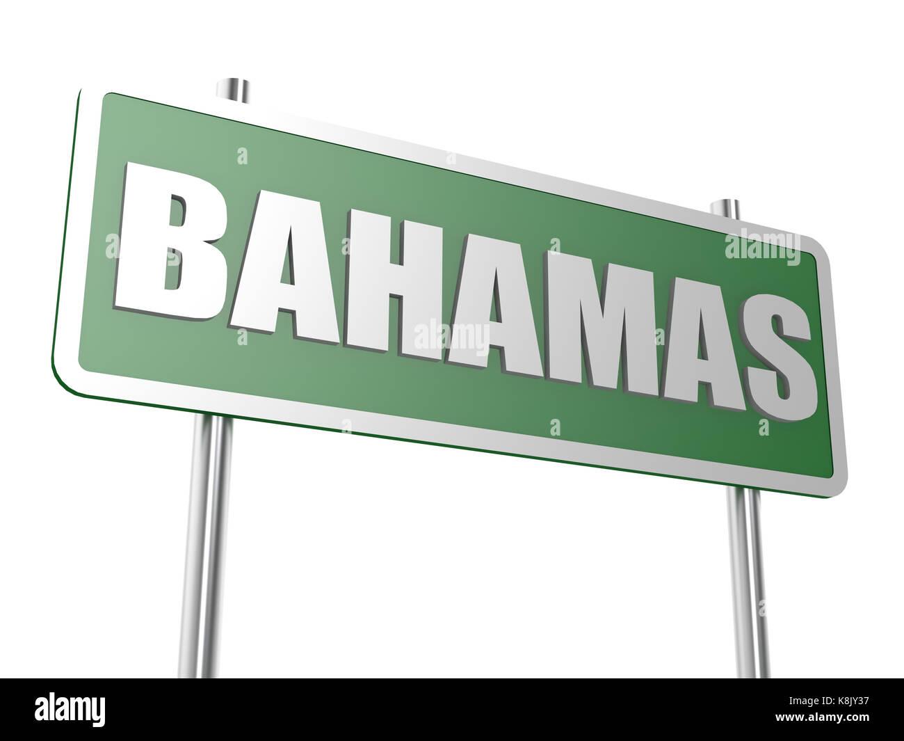Bahamas road sign - Stock Image