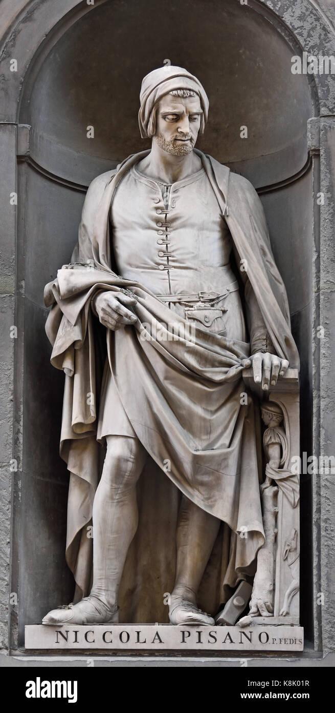 Nicola Pisano ( Niccolò Pisano, Nicola de Apulia or Nicola Pisanus )  1220–1284  Italian sculptor whose work is Stock Photo