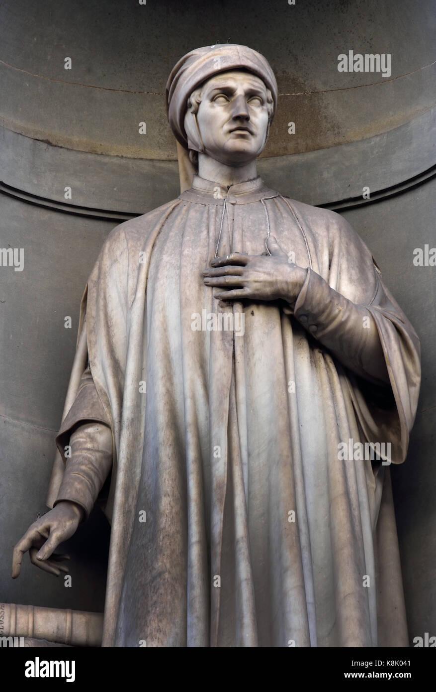 Accurso Statue also known as Accorso da Bagnolo and in Latin Accursius 1182 - 1263 was an Italian jurist and glosser, - Stock Image