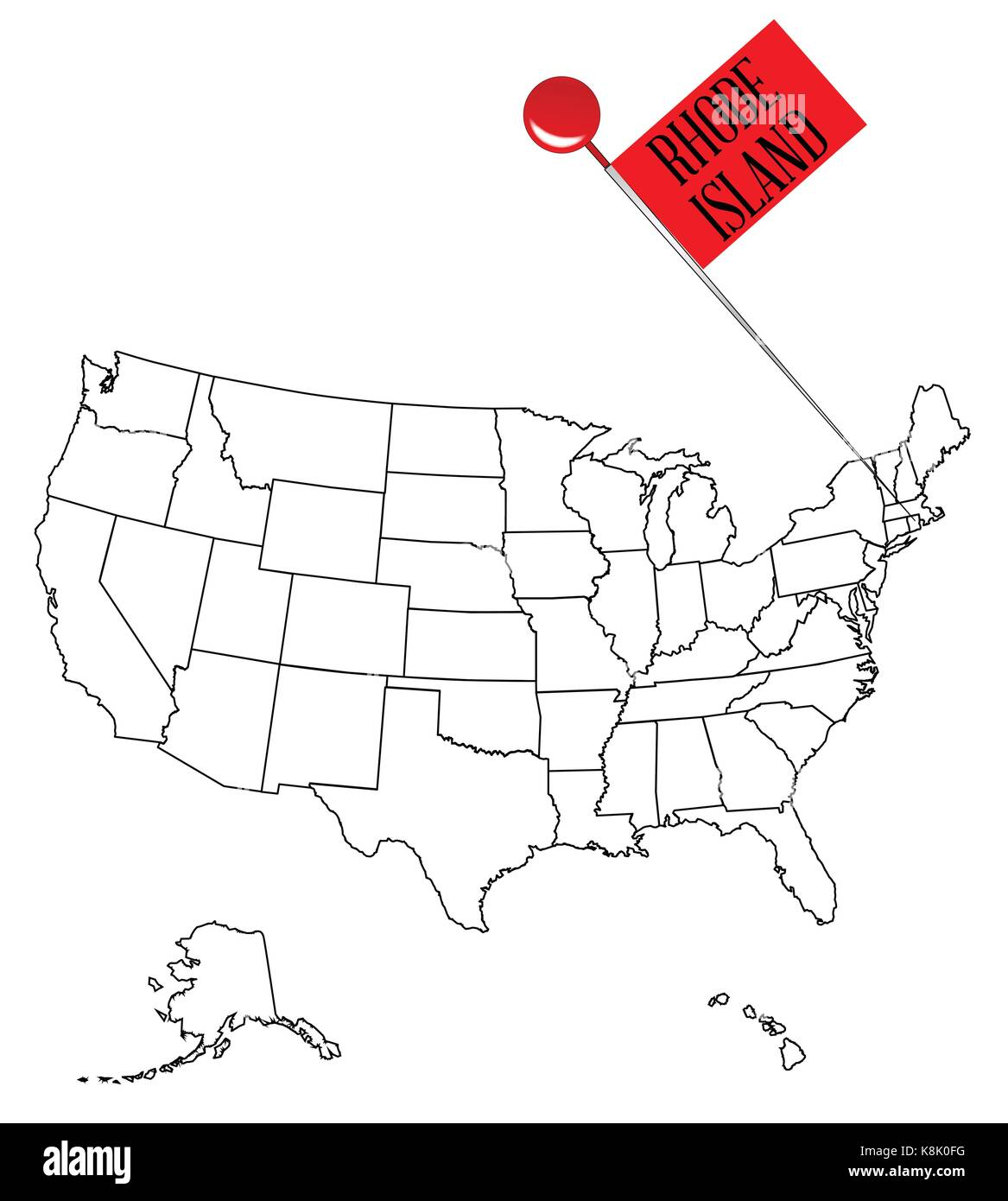 Rhode Island Map Vector Stock Photos & Rhode Island Map Vector Stock ...