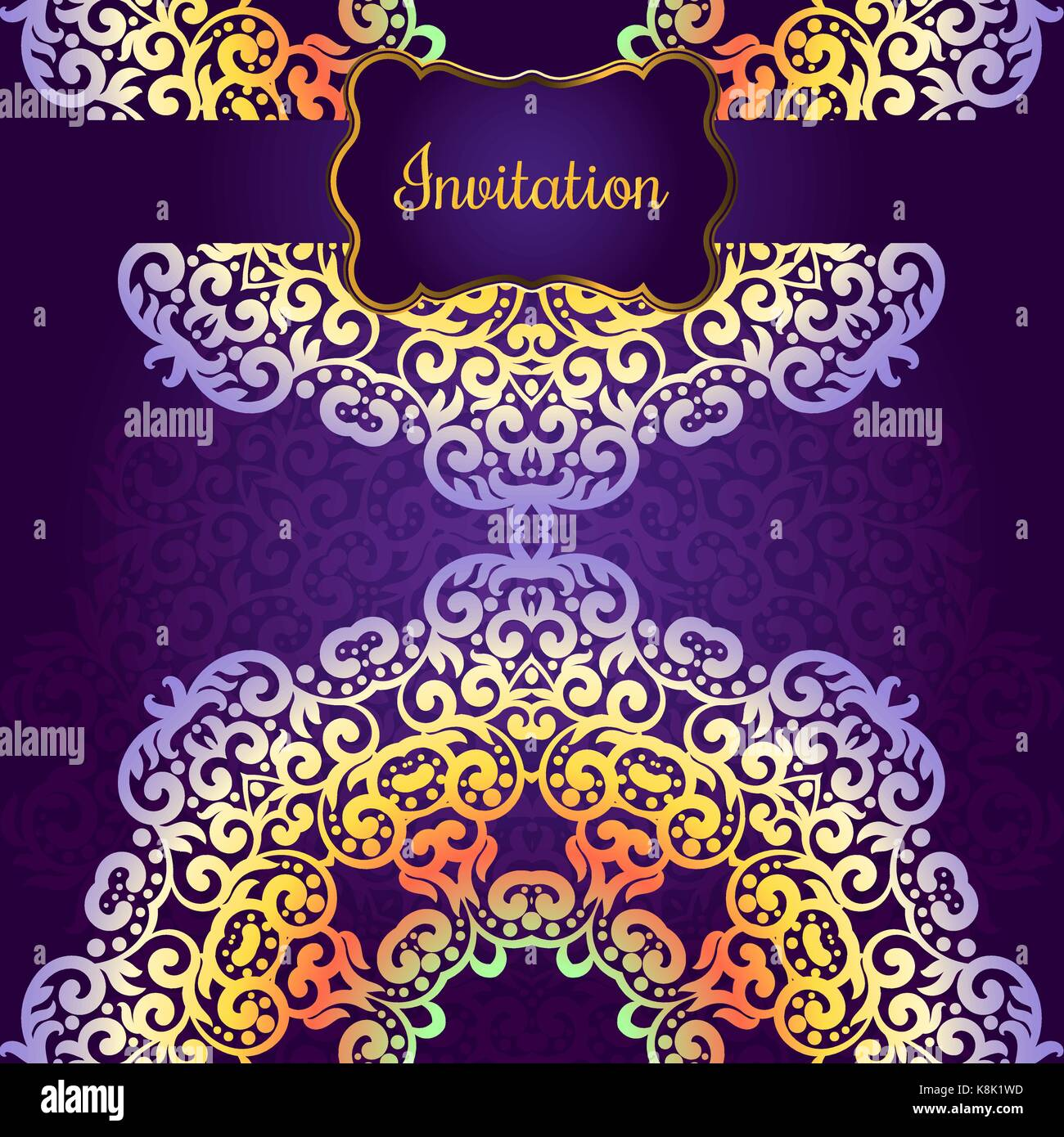 Wedding invitation delicate swirl mandala pattern vector stock wedding invitation delicate swirl mandala pattern vector background card or invitation vintage decorative elements soft colorful background isla junglespirit Image collections